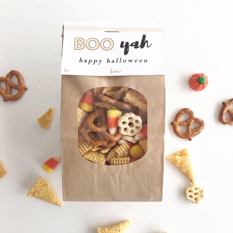 Halloween Trail Mix Gift Tag