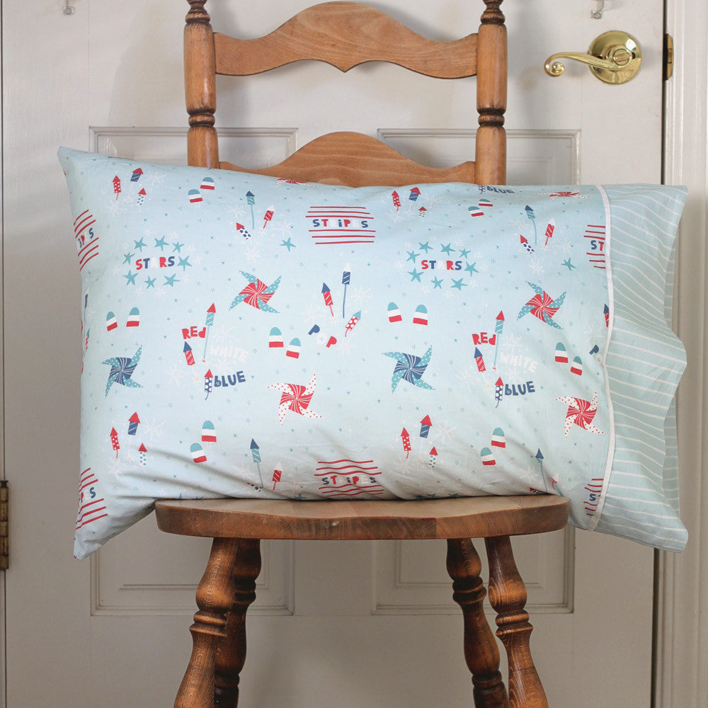 Kids 4th of July Holiday Pillowcase