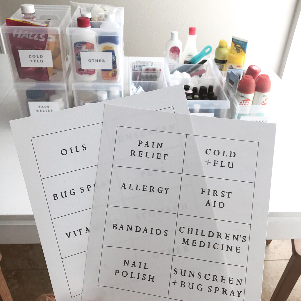 Medicine Cabinet Labels Download Printable