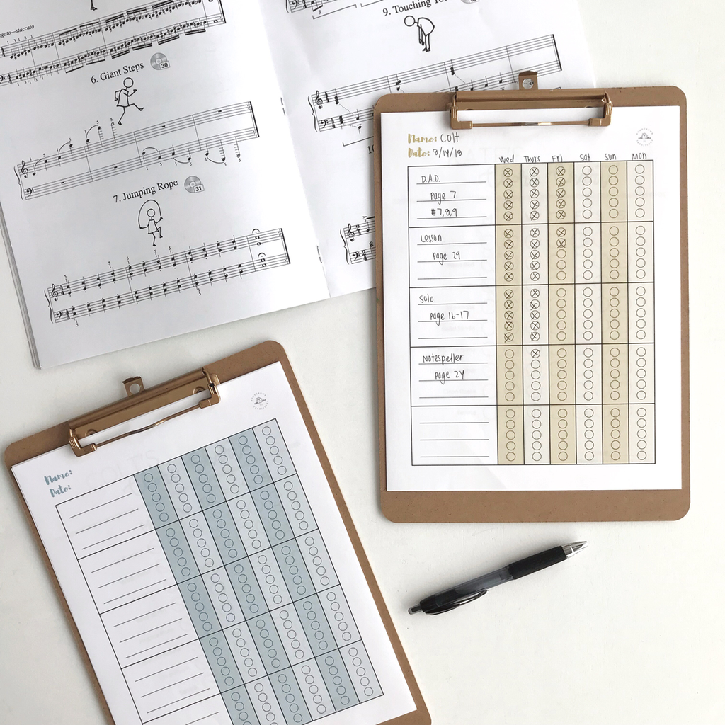 Music Practice Chart Printable Download