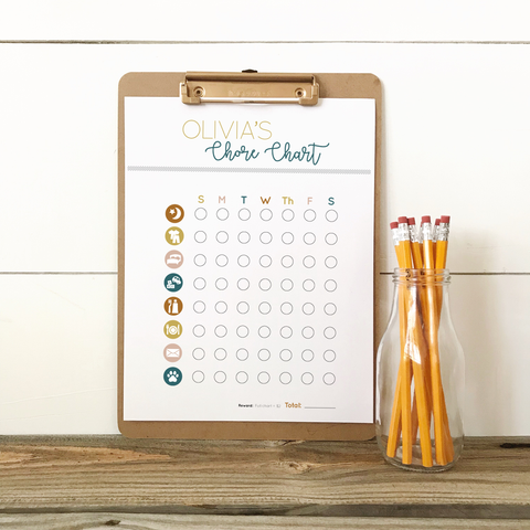 Custom Kids Chore Chart - Toddler (age 2-5)