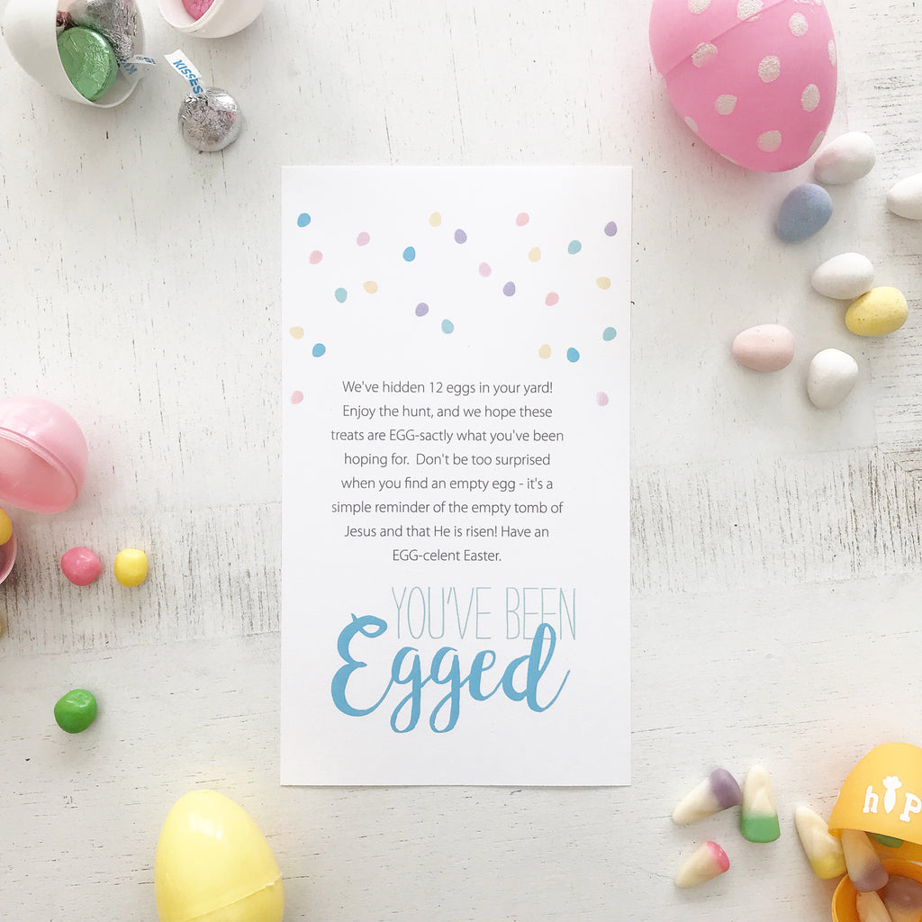 "Easter Service Idea ""You've Been Egged"" Free Printable Download"