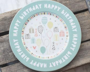 Kids Happy Birthday Plate