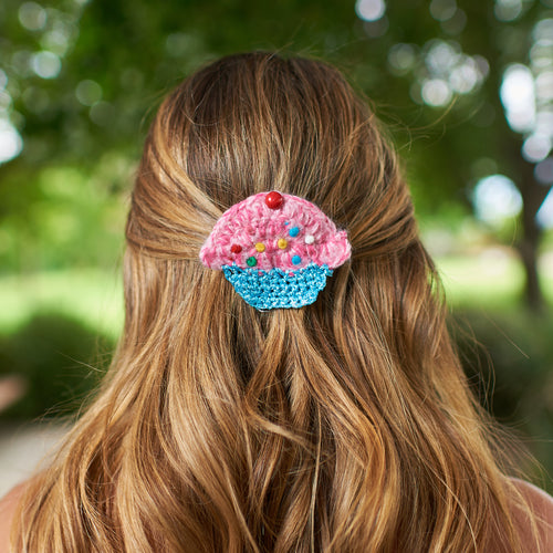 Sparkle Cupcake Pin and Clip