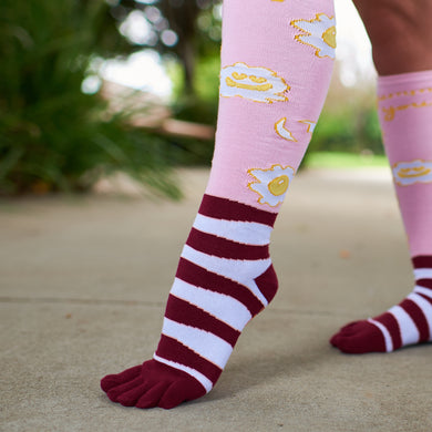 Bacon and Egg Toesie Socks