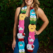 "Load image into Gallery viewer, ""Hello Kitty by Twinkie Chan"" Scarf - 5 characters"