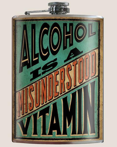 Alcohol is a misunderstood vitamin - Flask