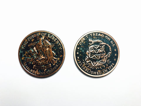 Don't Tread on Me Copper Coin