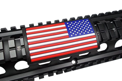 American Flag, RWB, (Stars Right or Left) - Large Grip PVC