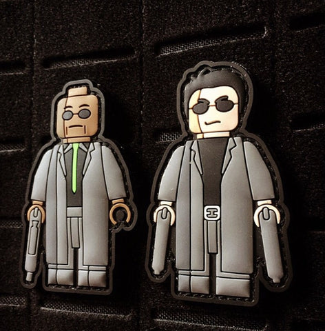 The Matrix - Morpheus and Neo Dual Patches