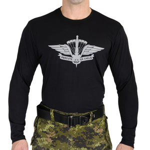 Military Square Parachute Long Sleeve T-Shirt