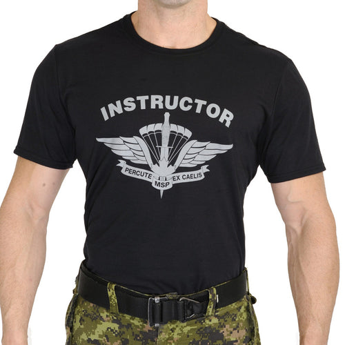 Military Square Parachute Instructor T-Shirt