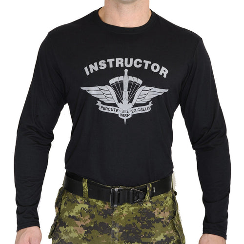 Military Square Parachute Instructor Long Sleeve T-Shirt
