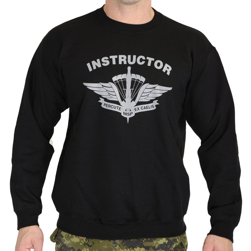 Military Square Parachute Instructor Sweat Shirt