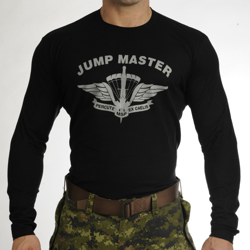 Military Square Parachute Jumpmaster Long Sleeve T-Shirt