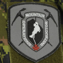 "Mountain Operations Instructor Patch, 4""x4.5""Shield"