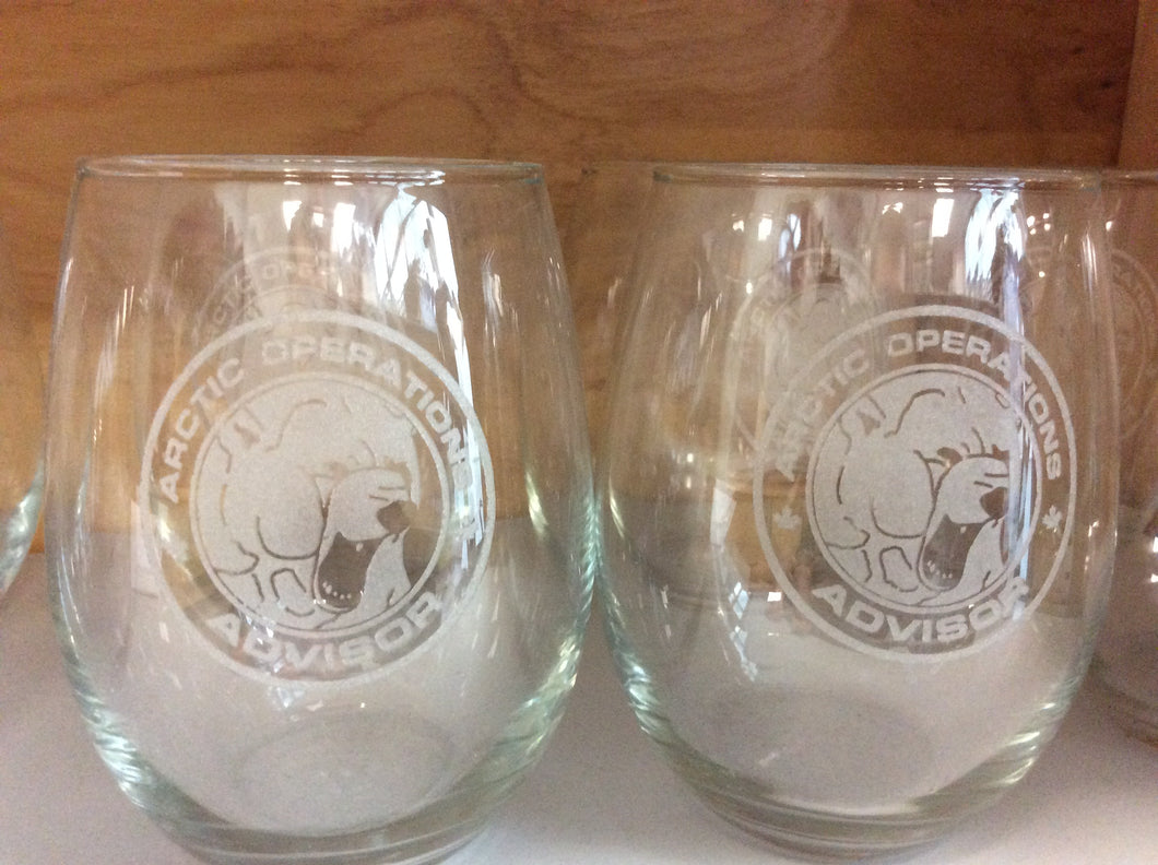 Arctic Operations Stemless Wine Glass