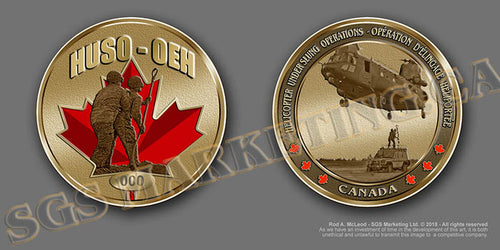 Helicopter Underslung Operations Coin
