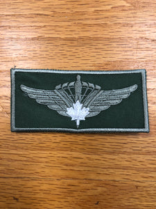 Military Square Canopy Patch white leaf