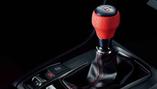 JDM Honda Access Red Leather Shift Knob (6 Speed)