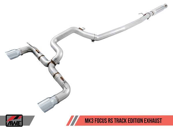 AWE Tuning Track Edition Cat-back Exhaust 2016-2017 Ford Focus RS (Mk3)