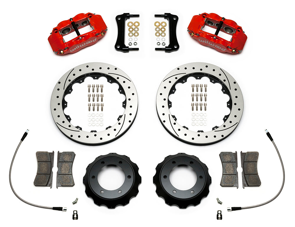 "Wilwood Forged Narrow Superlite 6R Big Brake Front Brake Kit Drilled & Slotted 2005-2016 Toyota Tacoma (14"")"