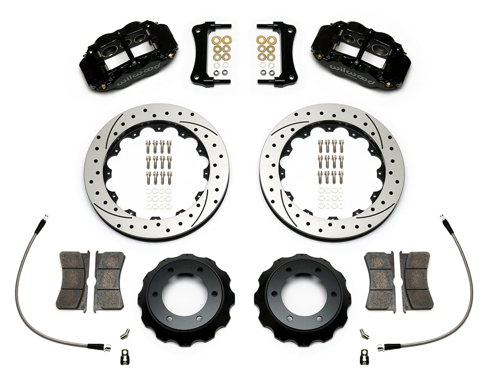 "Wilwood Forged Narrow Superlite 6R Big Brake Front Brake Kit Drilled & Slotted 2005-2016 Toyota Tacoma (12.88"")"