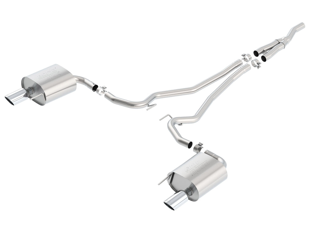Borla Atak Cat-Back Exhaust System 2015-2019 Ford Mustang 2.3L 4 Cyl. EcoBoost and 3.7L V6, AT/MT Transmission RWD