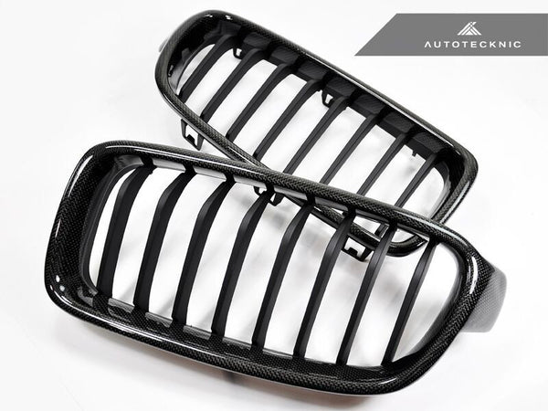 AutoTecknic Replacement Carbon Fiber Front Grilles BMW F30 Sedan / F31 Wagon | 3 Series