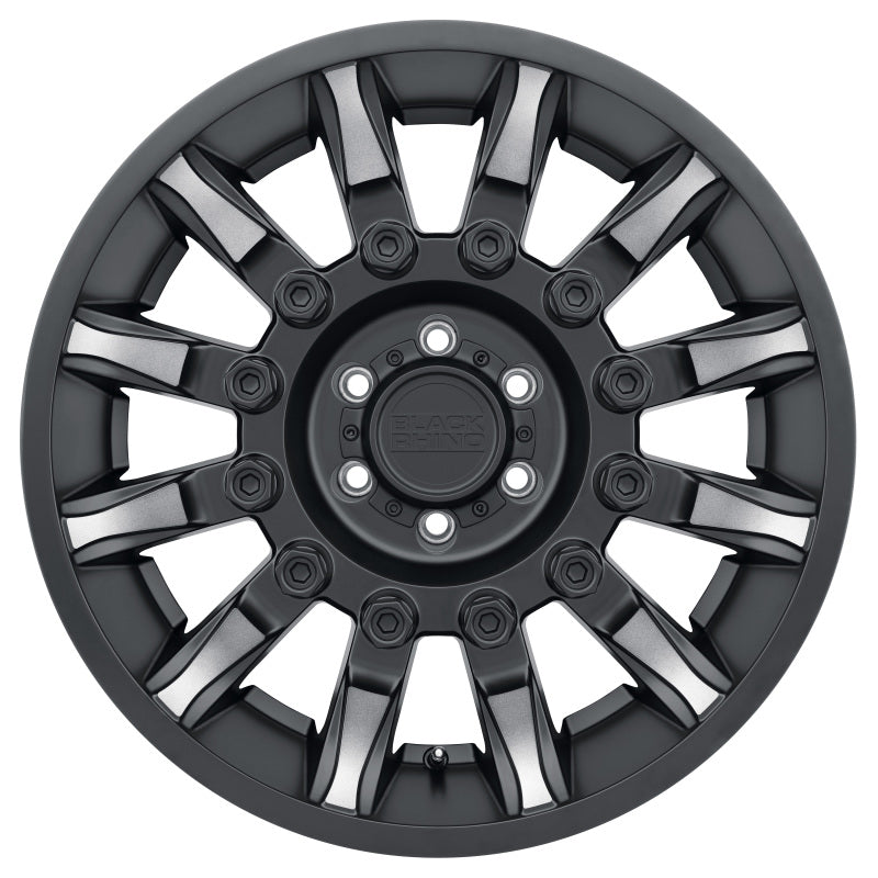 Black Rhino Mission 18x9.0 6x139.7 ET12 CB 112.1 Matte Black w/Machined Tinted Spokes Wheel