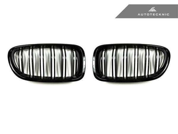 AutoTecknic Replacement Dual-Slats Glazing Black Front Grilles BMW F10 5-Series