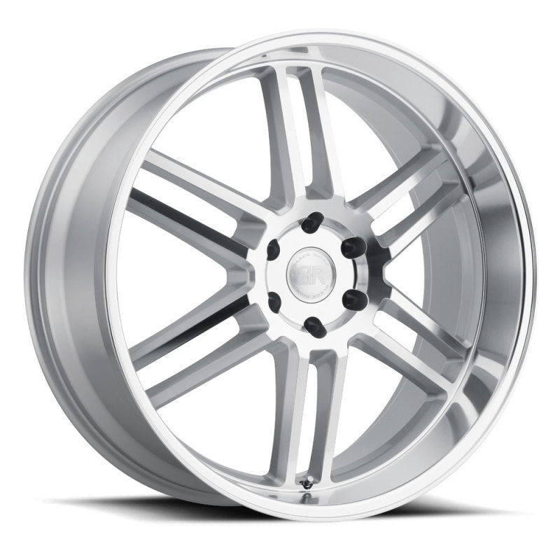 Black Rhino Katavi 20x9.0 6x139.7 ET15 CB 112.1 Silver w/Mirror Cut Face & Lip Wheel