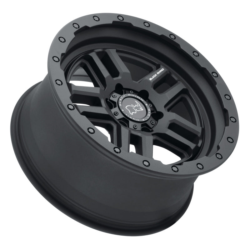 Black Rhino Barstow 18x9.5 6x120 ET12 CB 67.1 Textured Matte Black Wheel