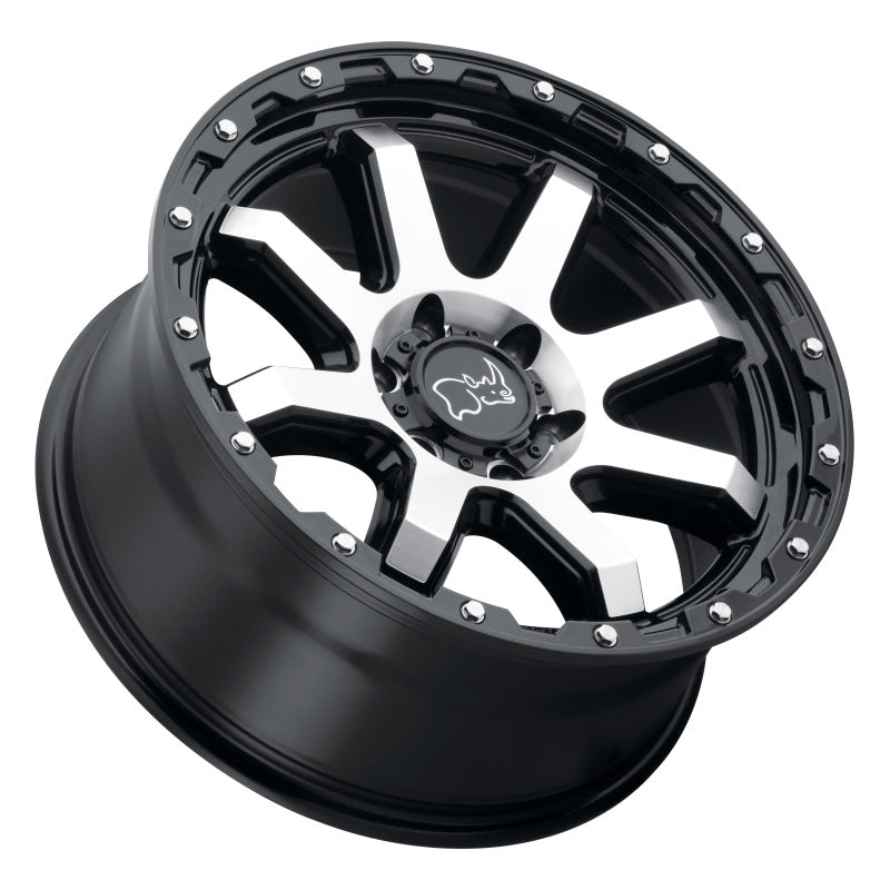 Black Rhino Coyote 20x9.0 6x120 ET12 CB 67.1 Gloss Black w/Machined Face & Stainless Bolts Wheel