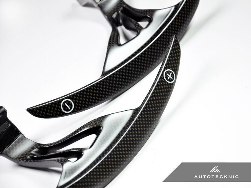 AutoTecknic Competition Steering Shift Levers Carbon Fiber (Paddles) - Nissan R35 GT-R