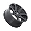 Black Rhino Mozambique 20x8.5 6x139.7 ET15 CB 112.1 Matte Black Wheel