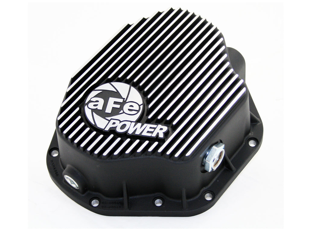 AFE Rear Differential Cover (Machined; Pro Series) 1994-2002 Dodge Diesel Trucks L6-5.9L