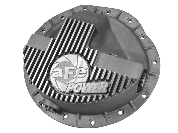 AFE Front Differential Cover (Raw; Street Series) 2003-2013 Dodge Diesel Trucks L6-5.9/6.7L
