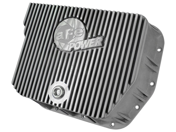 AFE Transmission Pan Cover (Raw) 1994-2007 Dodge Diesel Trucks L6-5.9L