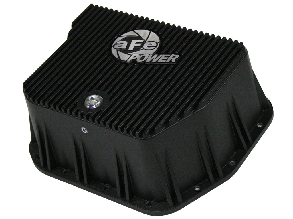 AFE Transmission Pan Cover (Black) 1994-2007 Dodge Diesel Trucks L6-5.9L