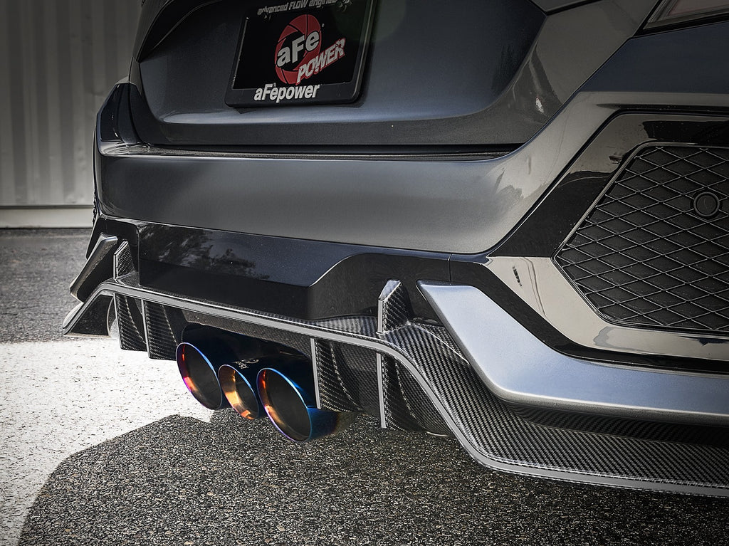"Takeda 3"" 304 Stainless Steel Cat-Back Exhaust System 2017-2019 Honda Civic Type R (w/ Blue Flame Tips)"