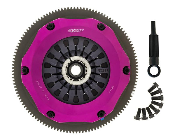 Exedy Racing Stage 4 Hyper Twin Organic Clutch Kit: 2004-2017 Subaru WRX STi