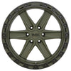 Black Rhino Henderson 18x9.0 6x139.7 ET12 CB 112.1 OD Green w/Black Lip Edge & Black Bolts Wheel