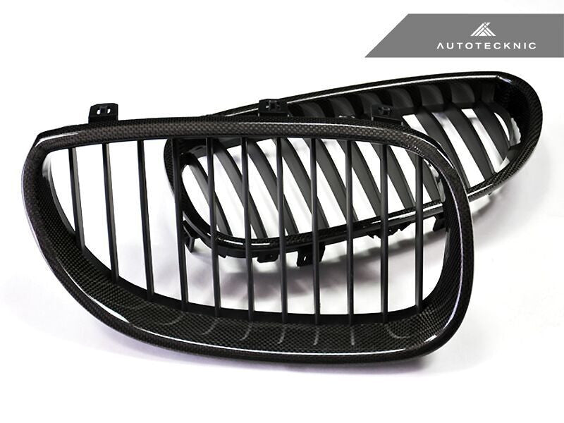 AutoTecknic Replacement Carbon Fiber Front Grilles BMW E60 Sedan / E61 Wagon | 5 Series including M5