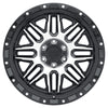 Black Rhino Alamo 18x9.0 8x180 ET-18 CB 125.1 Gloss Black w/Machined Face & Stainless Bolts Wheel