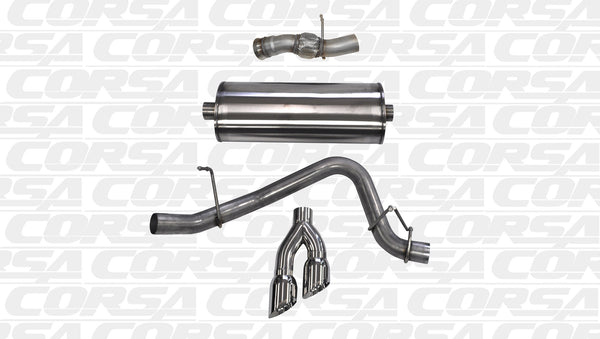 Corsa Performance Cat Back Exhaust 2015-2016 GMC Yukon Denali 6.2L V8