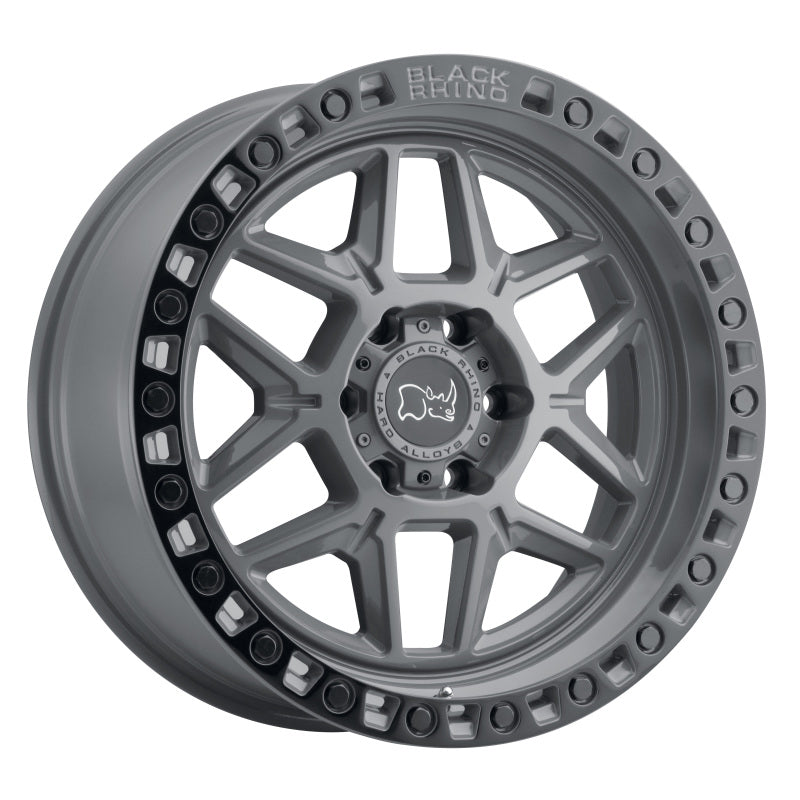 Black Rhino Kelso 18x9.0 5x139.7 ET00 CB 78.1 Battleship Gray w/Black Lip Edge & Black Bolts Wheel