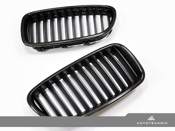 AutoTecknic Replacement Carbon Fiber Front Grilles BMW F10 Sedan / F11 Wagon | 5 Series