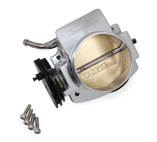 Holley Sniper EFI 102MM Throttle Body LS Engine, Silver (for use with 543-105 IAC motor)