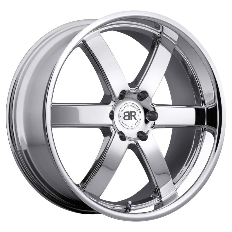 Black Rhino Pondora 20x8.5 6x139.7 ET30 CB 112.1 Chrome Wheel